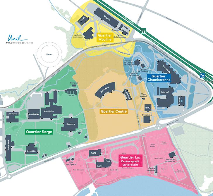 Plans des quartiers UNIL-Dorgigny