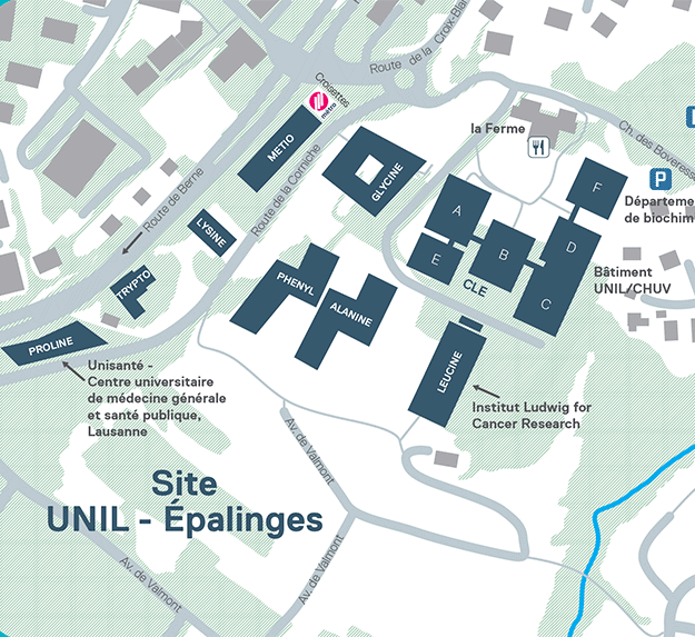 Plan UNIL-Epalinges