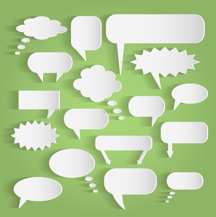 dialogueinterspirituel.jpg (Paper Chat Bubbles Illustration)