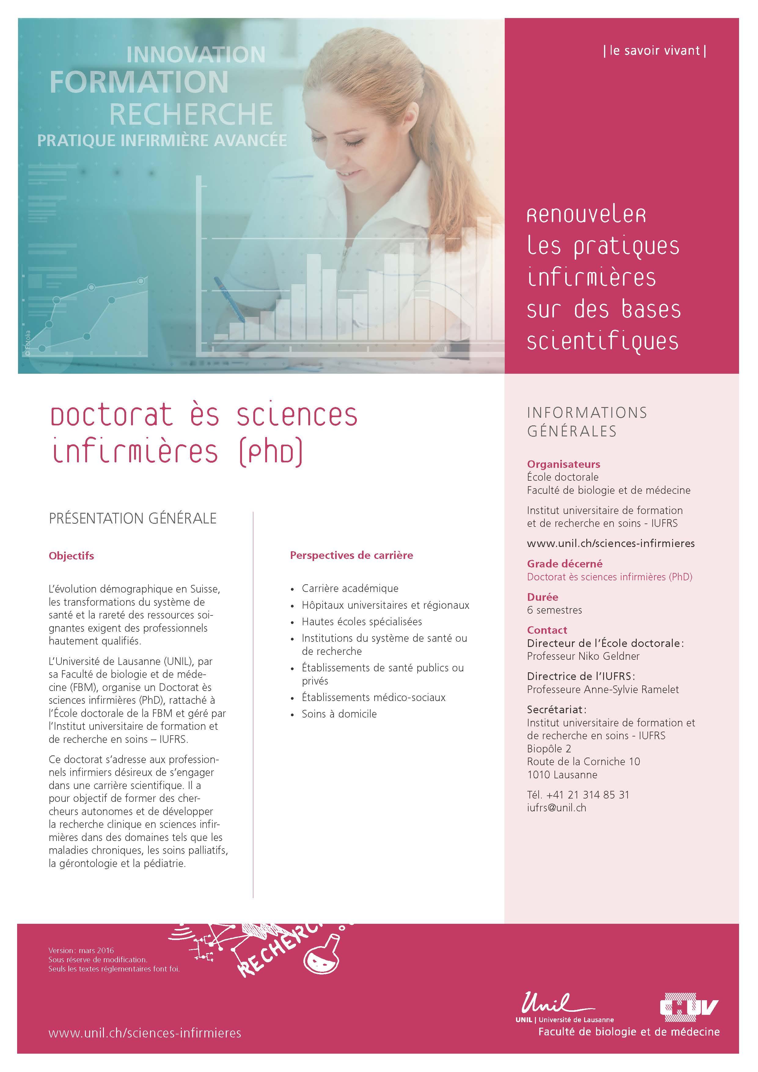 Phd In Nursing Sciences Unil