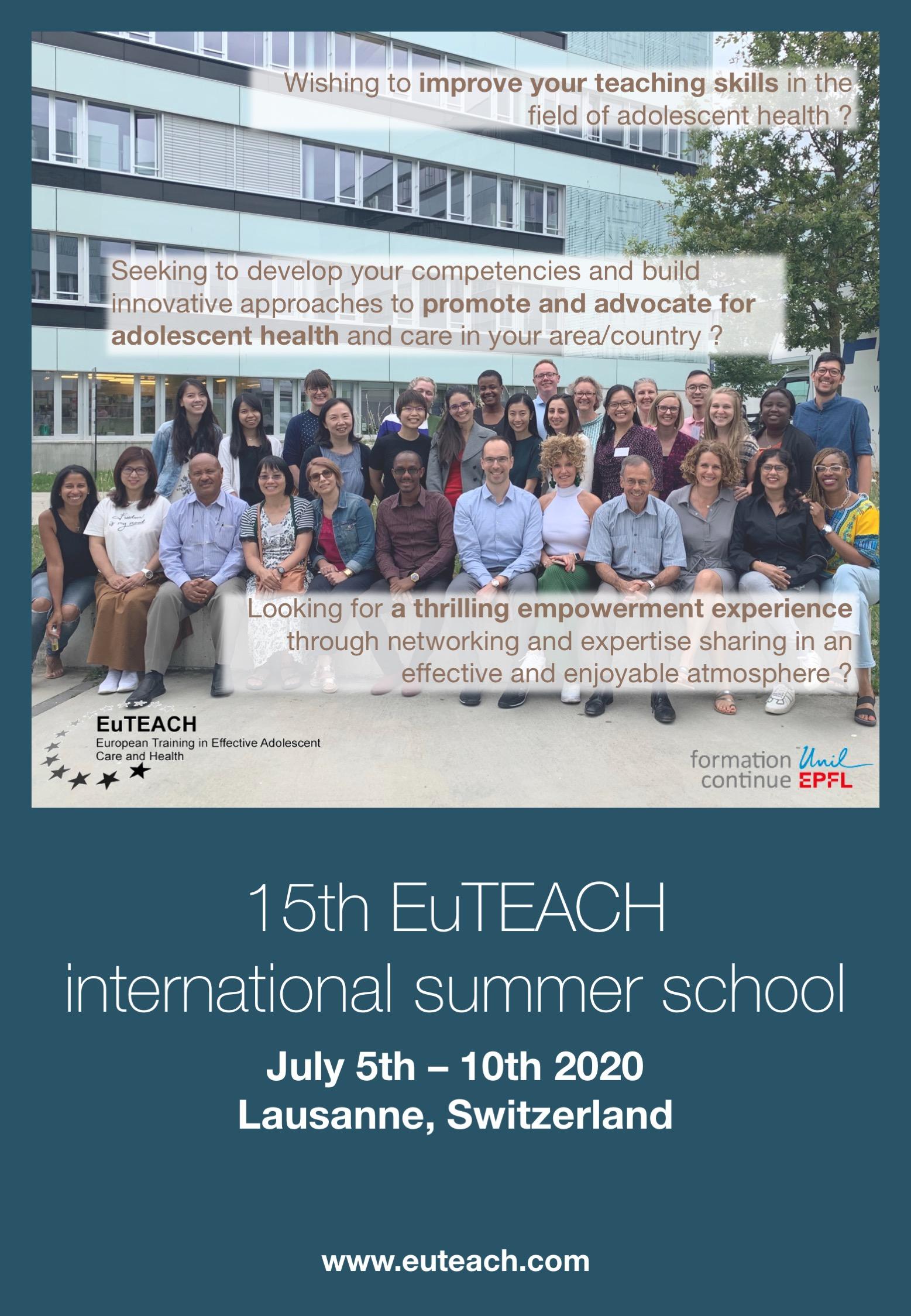 Summer School 2020.2020 Summer School Euteach