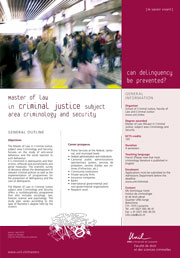Master of Law in Criminal Justice subject area Criminology, PDF, 123 Kb