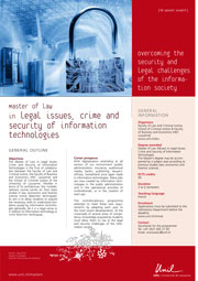 Master of Science in Legal Issues, Crime and Security of Information Technologies, PDF, 150 Kb
