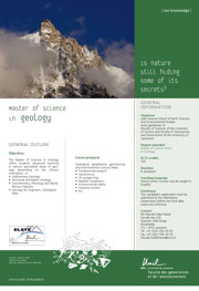 Master of Science in Geology, PDF, 134 Kb