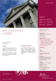 Maîtrise universitaire en Droit, PDF, 124 Kb