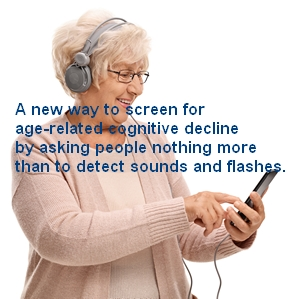 SciRep-LINE.jpg (Elderly woman with headphones listening to music on a phone)
