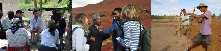 Photo des étudiant·e·s de l'orientation développement et environnement MSc GEO lors d'une excursion