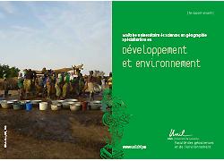 Plaquette développement et environnement MSc GEO