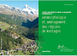 Flyer présentation orientation géomorphologie et aménagement des régions de montagne du MSc GEO